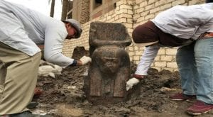 """Cairo:A """"rare"""" bust of a statue of the pharaoh Ramses II has been discovered near Giza, south of Cairo, the Egyptian Antiquities Ministry announced on Wednesday."""