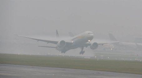 Flight schedule affected due to dense fog at Lahore airport