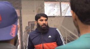 Misbah-ul-Haq and Waqar Younis