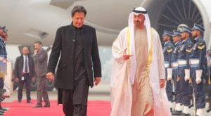UAE crown prince reaches in Pakistan on a day long visit