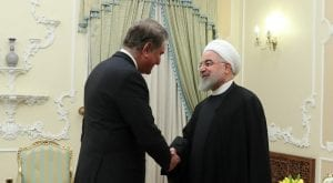 FM Qureshi meets President Hassan Rouhani, discuss regional issues