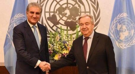 India unwilling for bilateral talks on Kashmir: Qureshi informs UN
