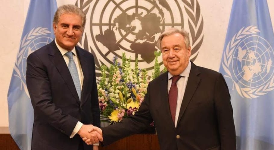 India unwilling for bilateral talks on Kashmir: Qureshi informs UN chief