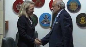 Alice Wells meets Ijaz Shah, discuss national, regional security