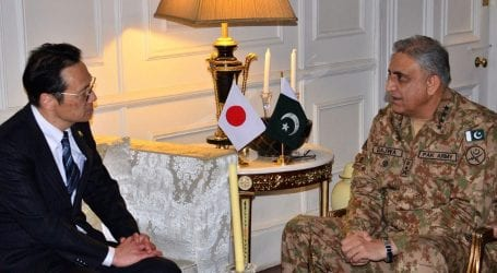 Japanese Minister calls on COAS Bajwa at GHQ