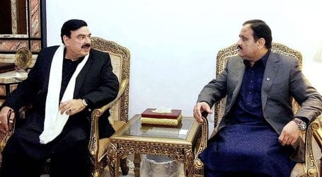 Sheikh Rasheed calls on CM Usman Buzdar