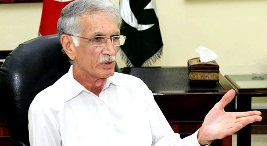 Defence Minister Khattak refutes reports of grouping in KP cabinet