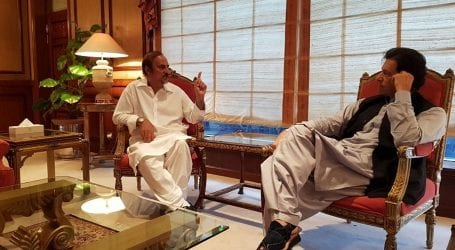 PM Imran meets PTI leader Babar Awan