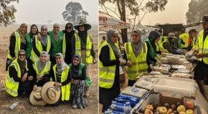 Muslim women donated supplies and cooked food in Australia