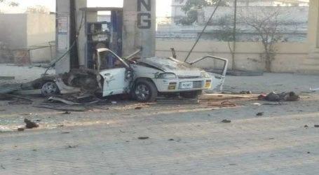 Woman killed, three injured as car explodes in Peshawar