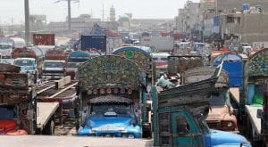 Goods traffic suspended as transporters strike entrees seventh day