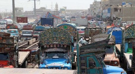 Goods traffic suspended as transporters strike enters eighth day
