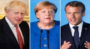 Johnson, Markel, Macron urge Iran not to withdraw nuclear deal