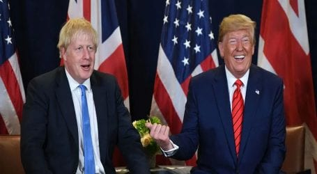 Trump agrees with PM Johnson on a 'Trump deal' for Iran