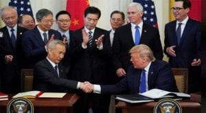 Stock gets big boost as US, China sign trade deal