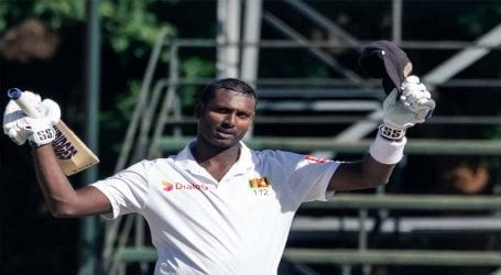 Angelo Mathews hits double ton as SL take big lead