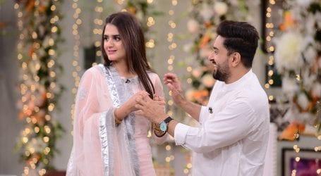 Hira Mani's husband praises her acting skills