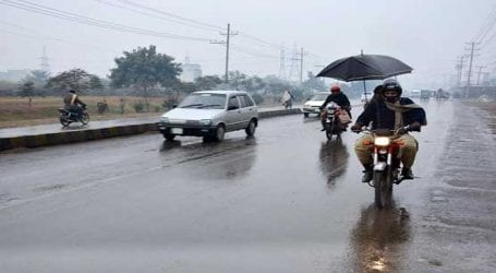 Light rain turns weather cold in Lahore