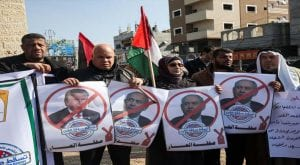 Palestinians protest against Trump's Middle-East proposal