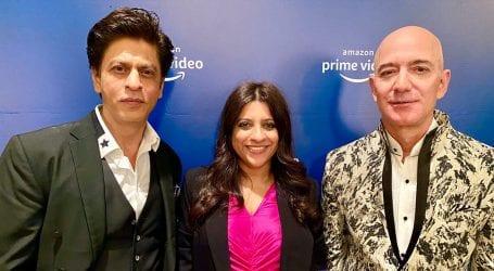 Shah Rukh Khan makes Jeff Bezos say a dialogue from his film