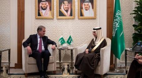 FM meet Saudi counterpart, calls for de-escalating tension