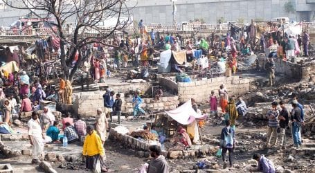 Donations for Teen Hatti slum fire victimsbeing sold in the market