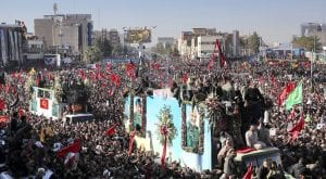 Stampede turns fatal during the burial of Qasem Soleimani