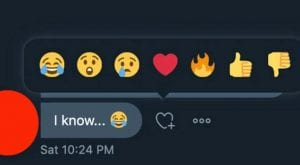 Twitter rolls out Facebook-like reaction emojis for DMs