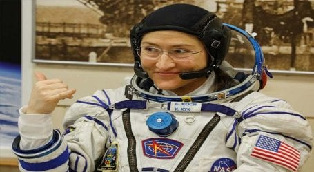 Christina Koch to return to earth after one year of space mission