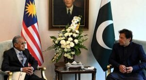 PM Khan meets Malaysian counterpart in Kuala Lumpur