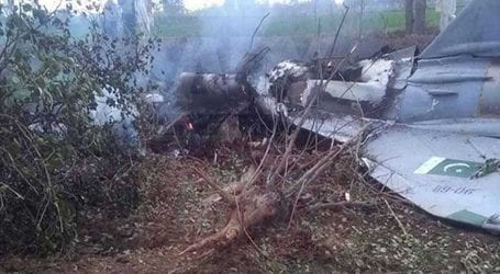 Pilot safely ejected after PAF trainer aircraft crashes near Mardan