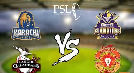 Two matches of PSL edition 5 scheduled to be played today