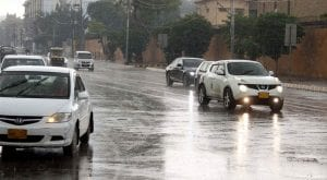 Light rain continues in many parts of Karachi since morning