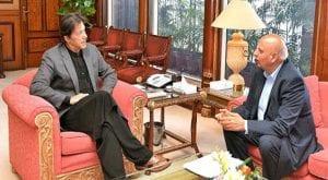 Governor Punjab Chaudhry Muhammad calls on PM Imran