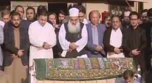 Funeral prayers of PTI leader Naeem ul Haque offered in Karachi