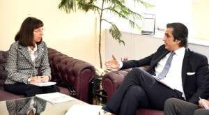 Pakistan's FAO representative calls on Khusro Bakhtiar in Islamabad