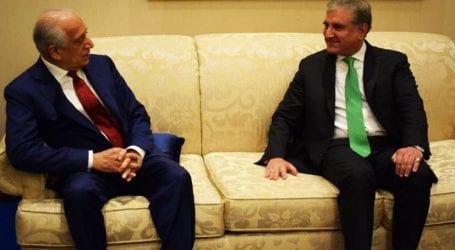 FM Qureshi meets Zalmay Khalilzad, discuss Afghan peace process