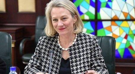 US diplomat Alice Wells appreciates Pakistani women serving in Congo