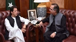 Governor Imran Ismail calls on PM Imran, discusses political situation