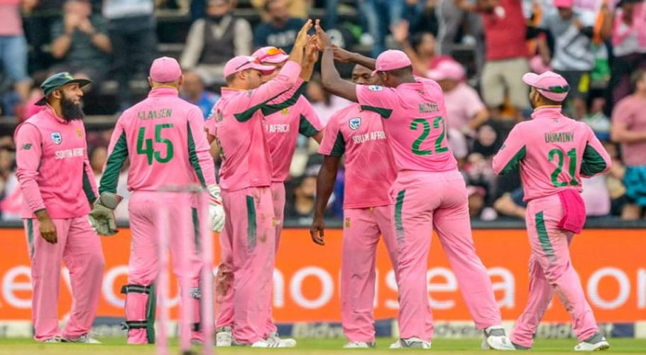 England to join South Africa's cancer cause by wearing pink Kits