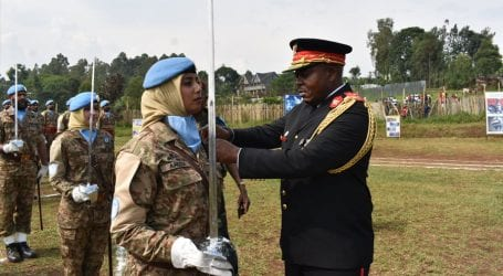 Pakistan's female peacekeepers awarded UN Medal in Congo