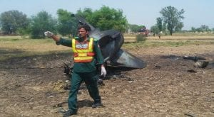 PAF jet crashes while on training mission near Shorkot