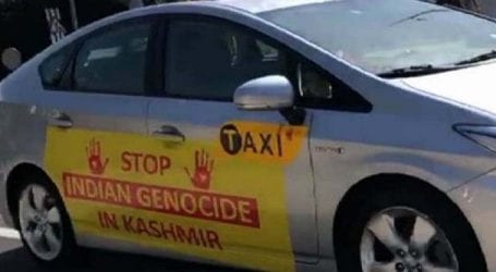 Kashmir Solidarity Day: Pro-Kashmir freedom slogans appear on taxicabs in New York