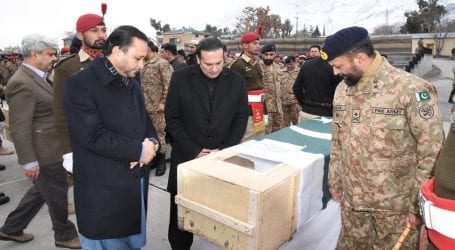 Funeral prayers of martyred Col Mujeeb offered in Bunji