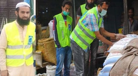 JI distributes ration bags among 700 poor families in Karachi