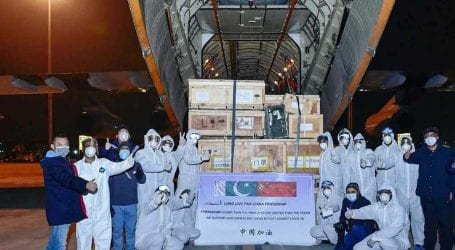 PAF air transport fleet brings medical relief goods from China