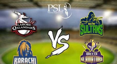 Two PSL-5 matches scheduled to be played today in Lahore, Karachi