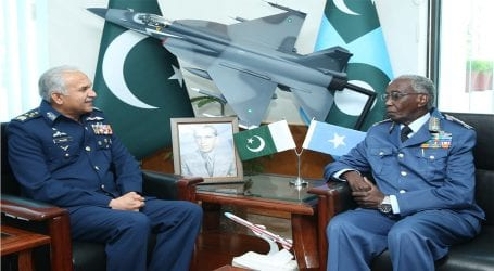 Somali Air Force Commander calls on PAF Chief in Islamabad