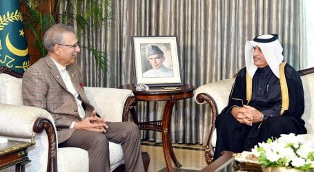 Outgoing Qatar Ambassador to Pakistan calls on President Alvi