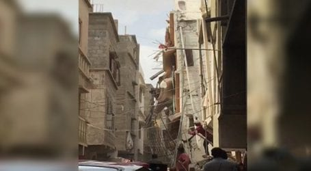 Two dead, several wounded as five-storey building collapses in Karachi